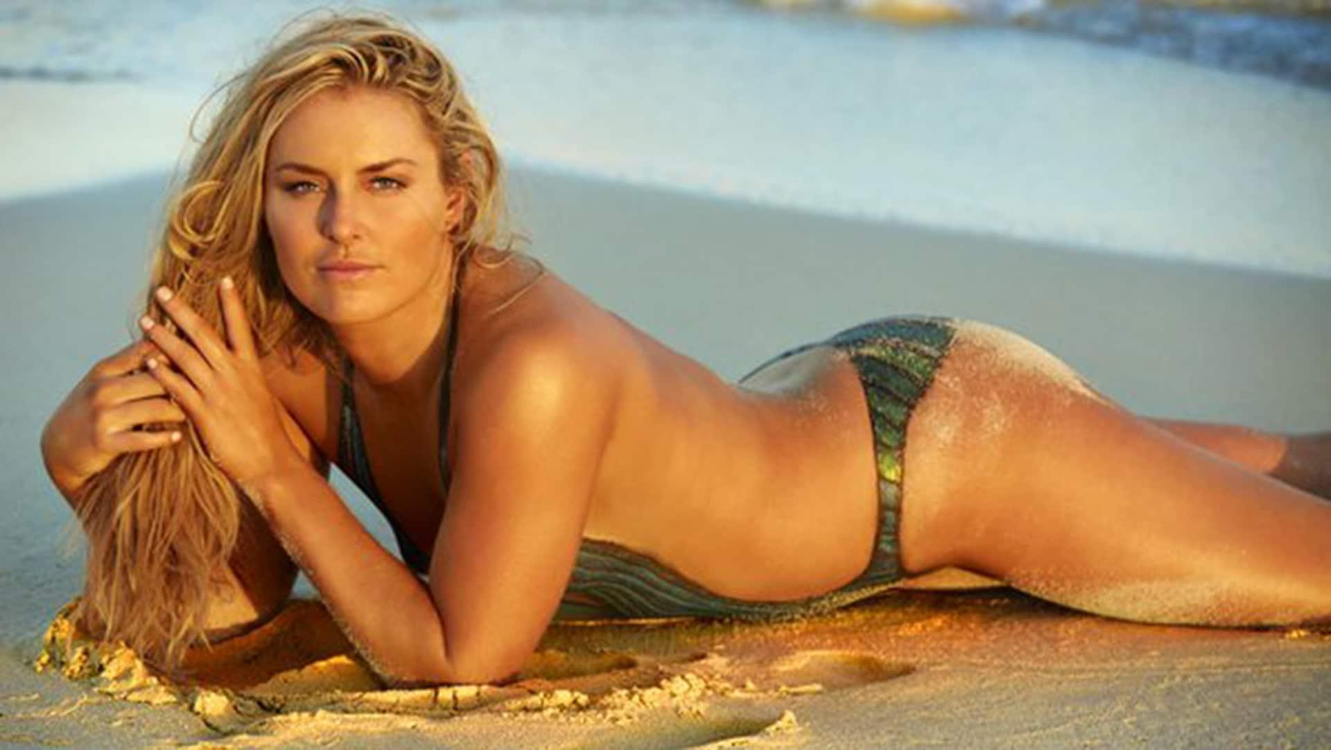Photos: Caroline Wozniacki, Lindsay Vonn In Body Paint In Sports Illustrated Swimsuit Edition ...