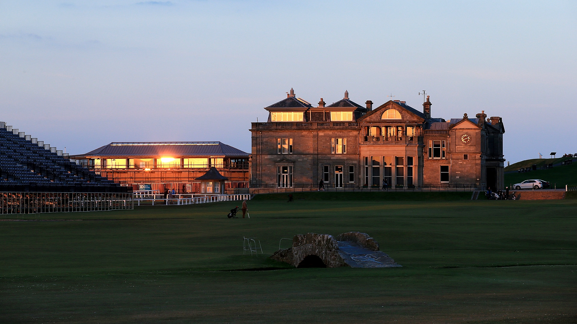 R&A clubhouse on the Old Course at St. Andrews.