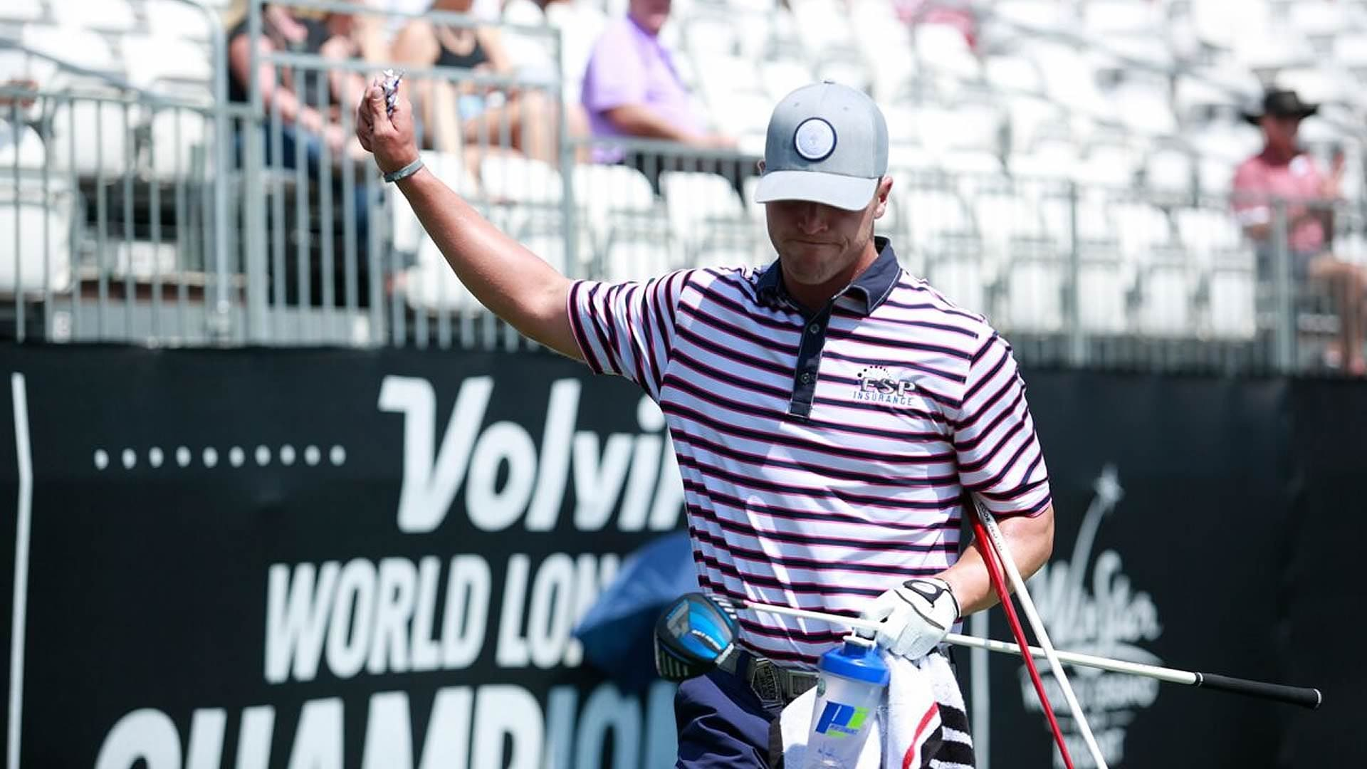 New to the game, Wes Patterson crashing Volvik Long Drive party