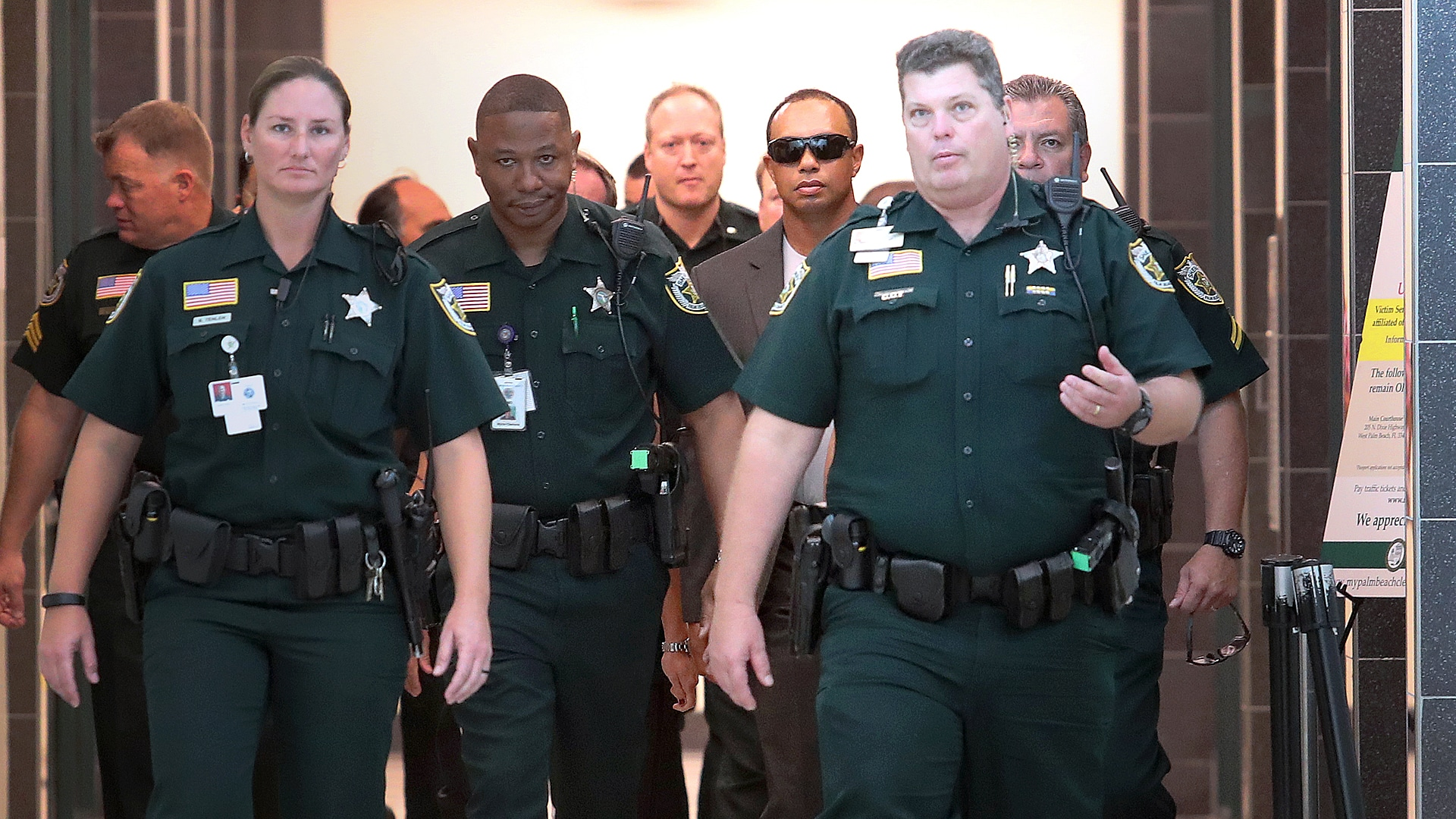 Tiger Woods at his 2017 DUI court hearing.