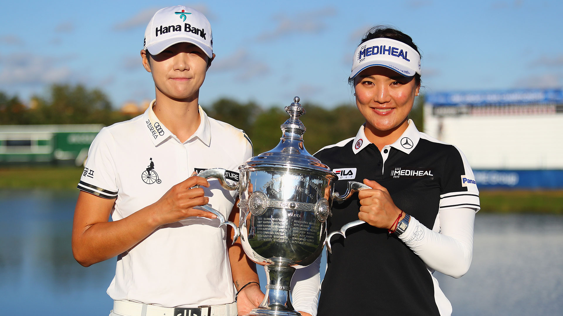 Sung Hyun Park and So Yeon Ryu at the 2017 CME Group Tour Championship