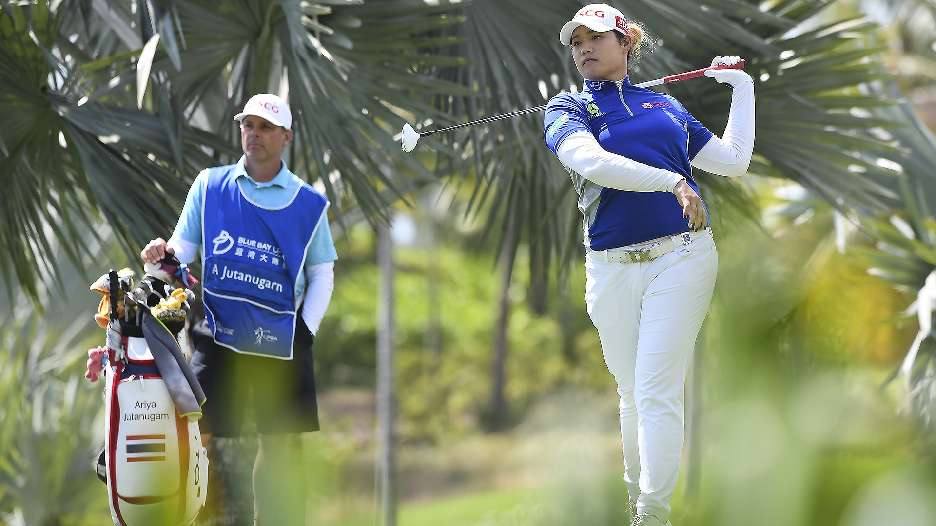Ariya Jutanugarn at the 2018 Blue Bay LPGA