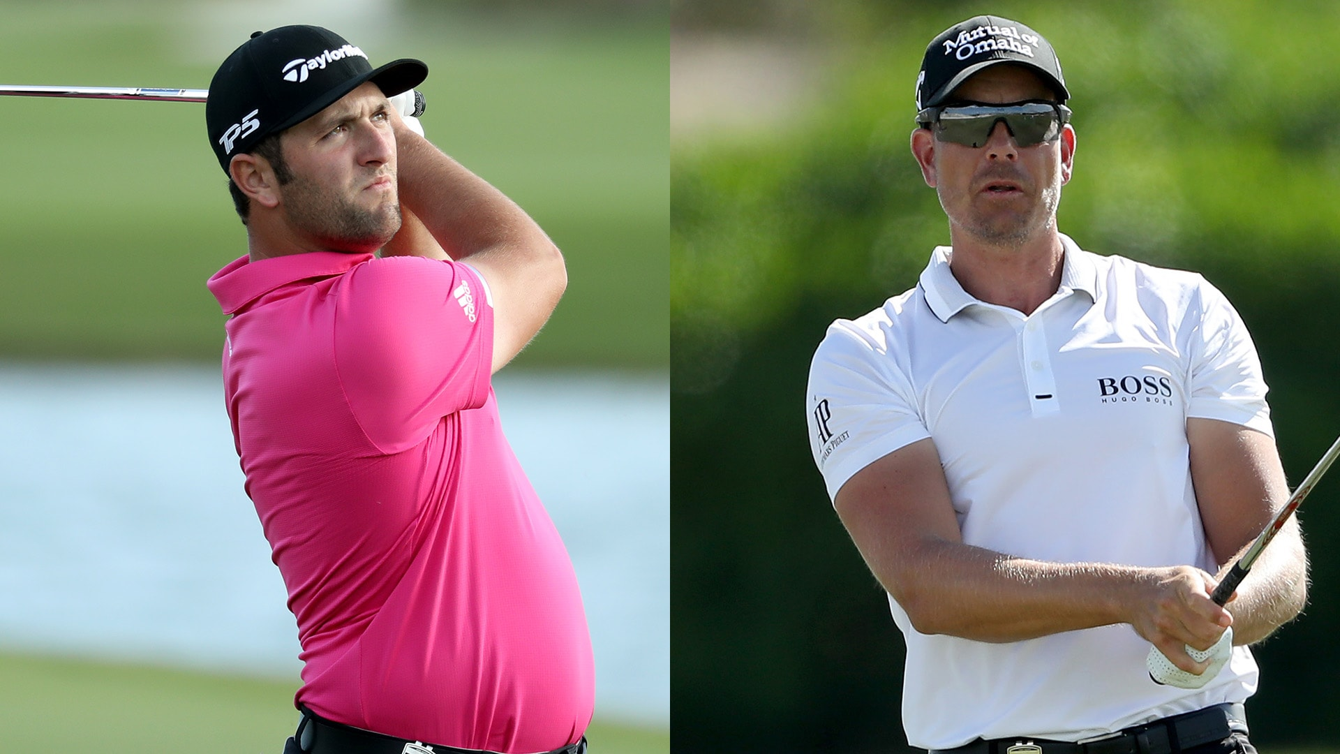 Jon Rahm and Henrik Stenson at the 2018 Hero World Challenge