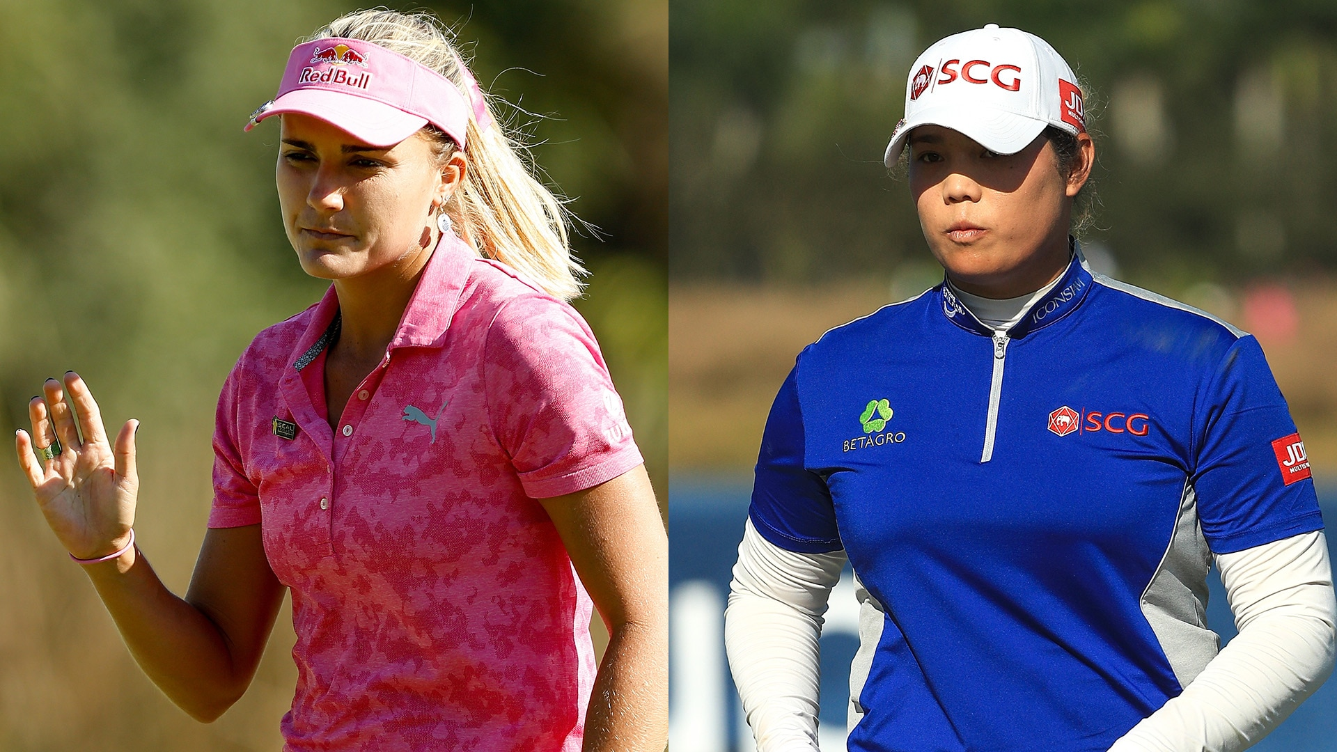 Lexi Thompson and Ariya Jutanugarn at the 2018 CME Group Tour Championship