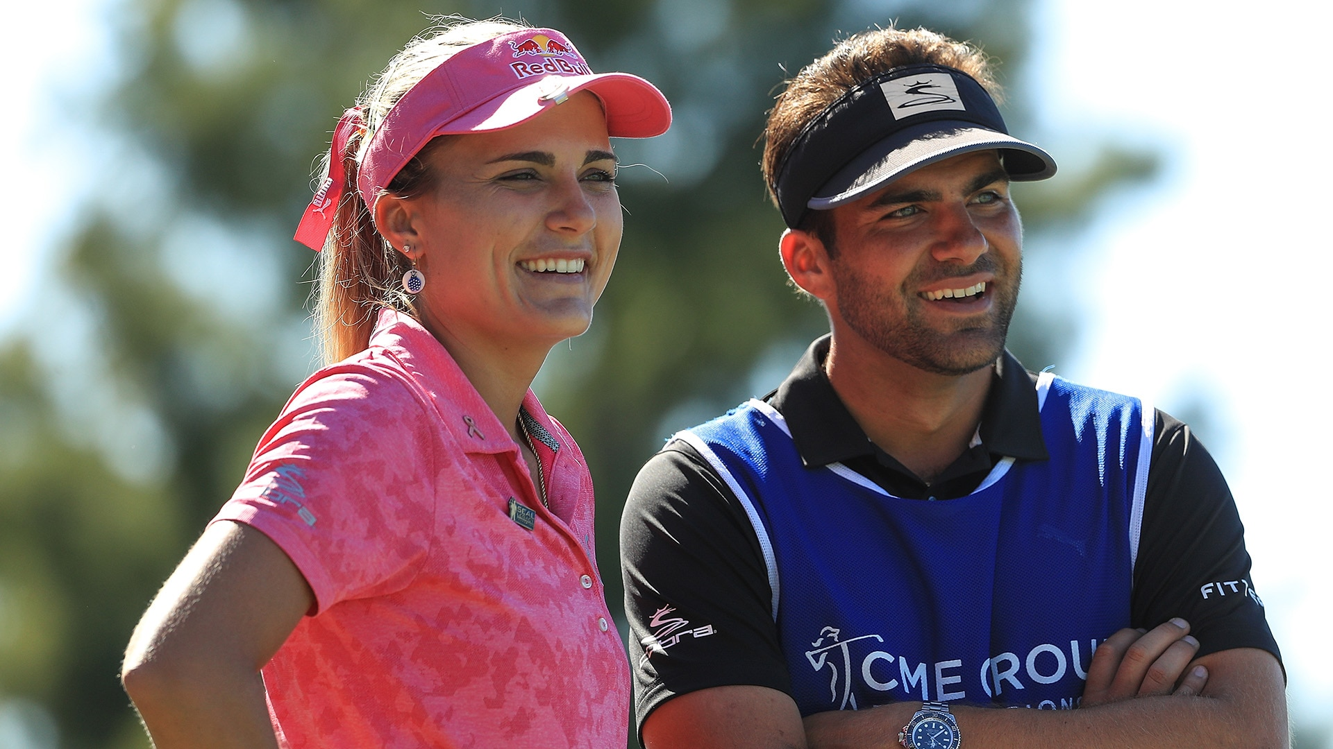 Lexi and Curtis Thompson at the 2018 CME Group Tour Championship