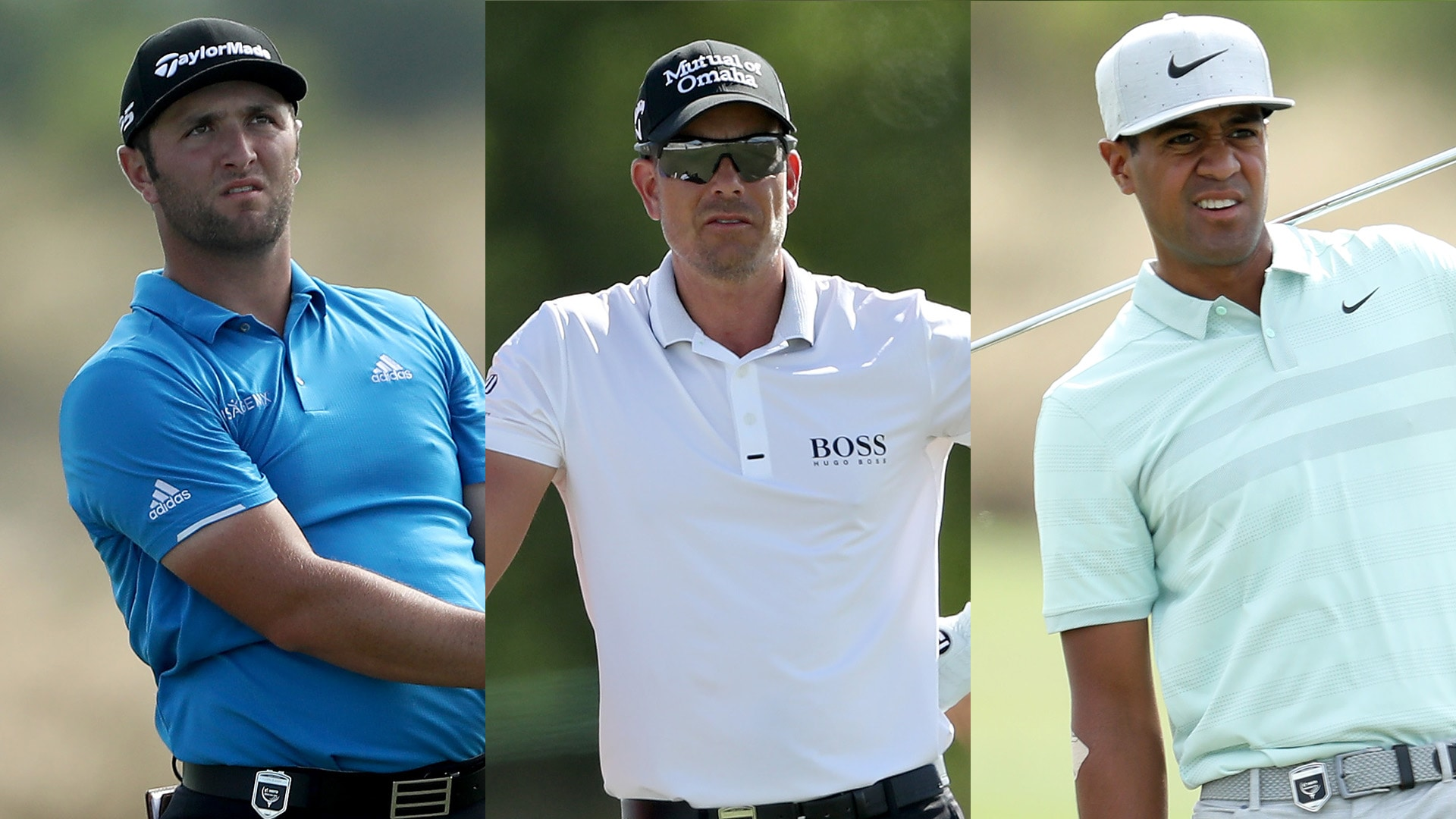Jon Rahm, Henrik Stenson and Tony Finau at the 2018 Hero World Challenge