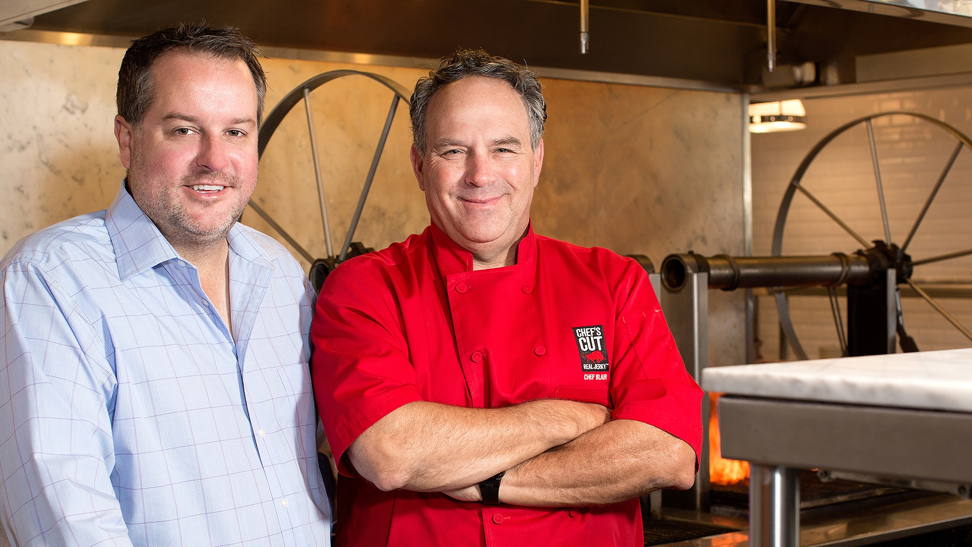 Dennis Riedel and Chef Blair Swiler, creators of Chef's Cut Real Jerky