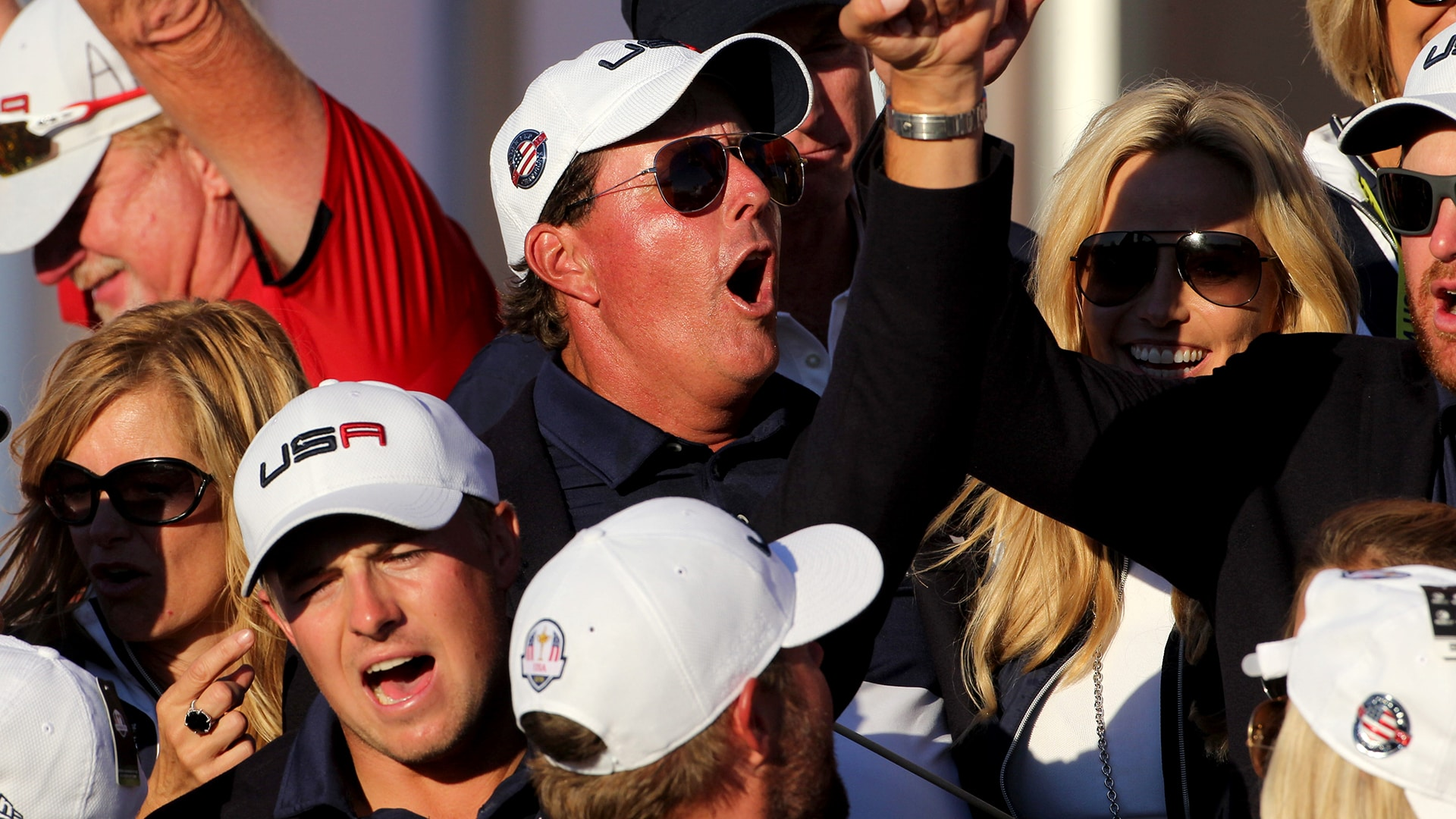 Phil Mickelson at the 2016 Ryder Cup.