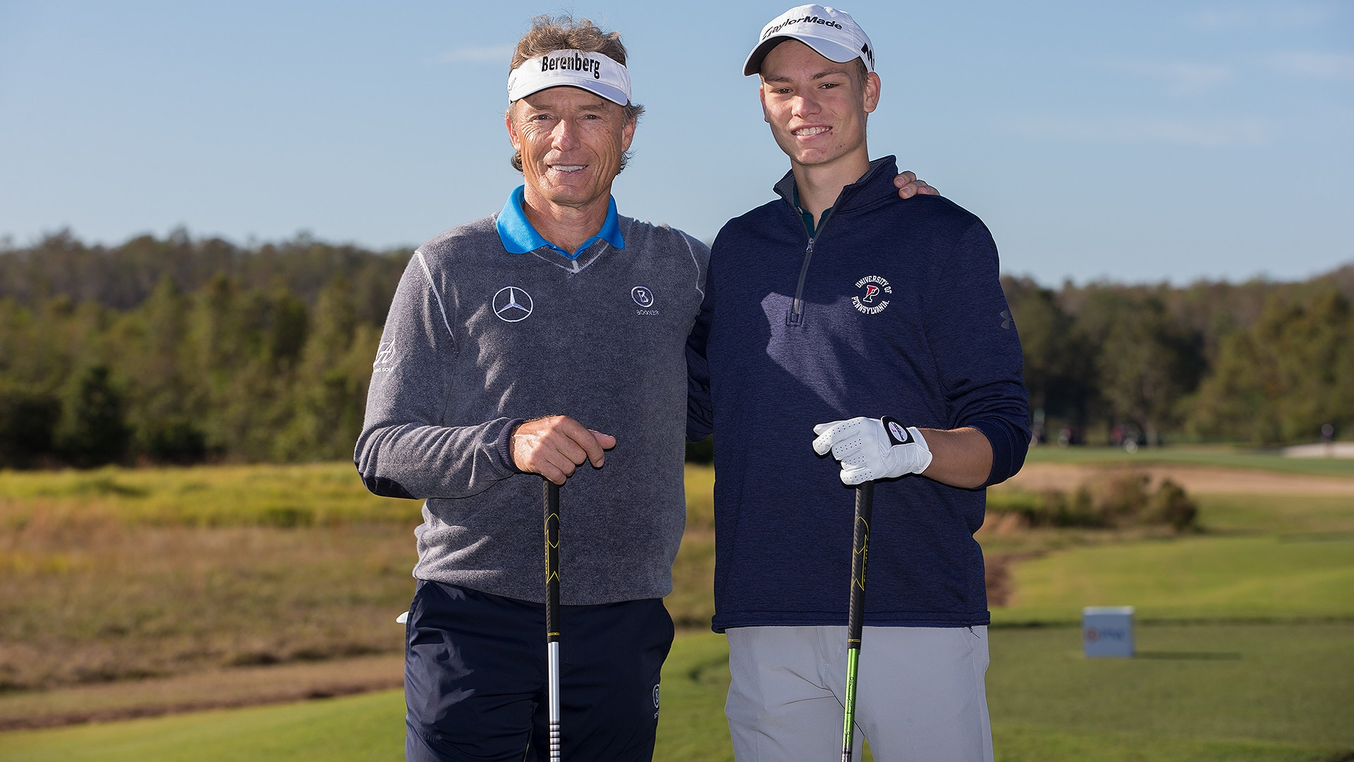 Bernhard and Jason Langer at the 2017 PNC Father/Son Challenge