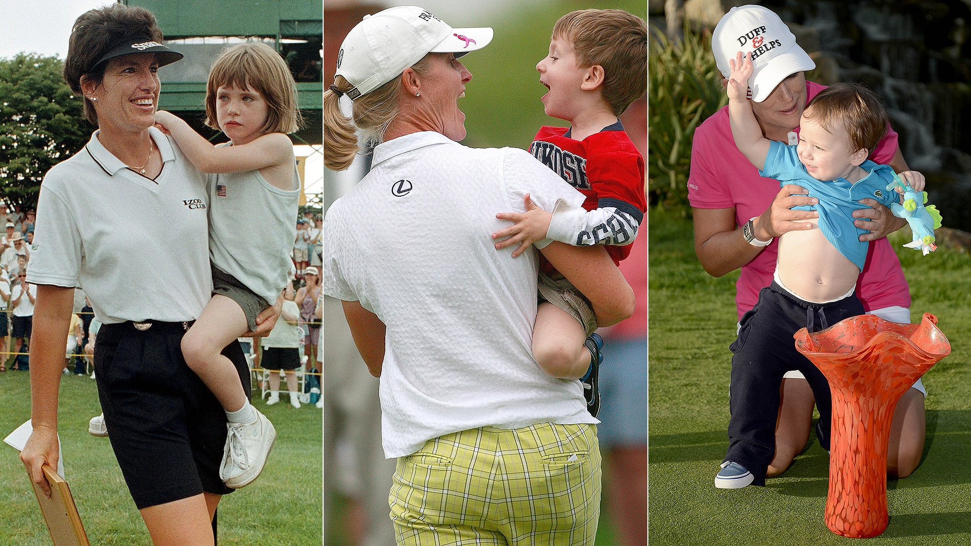 Juli Inkster, Janice Moodie, Cristie Kerr and their kids