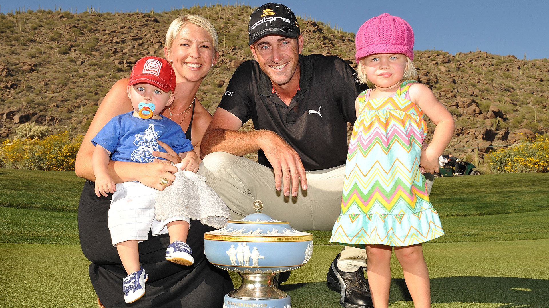 Geoff Ogilvy and family at the 2009 WGC-Accenture Match Play.