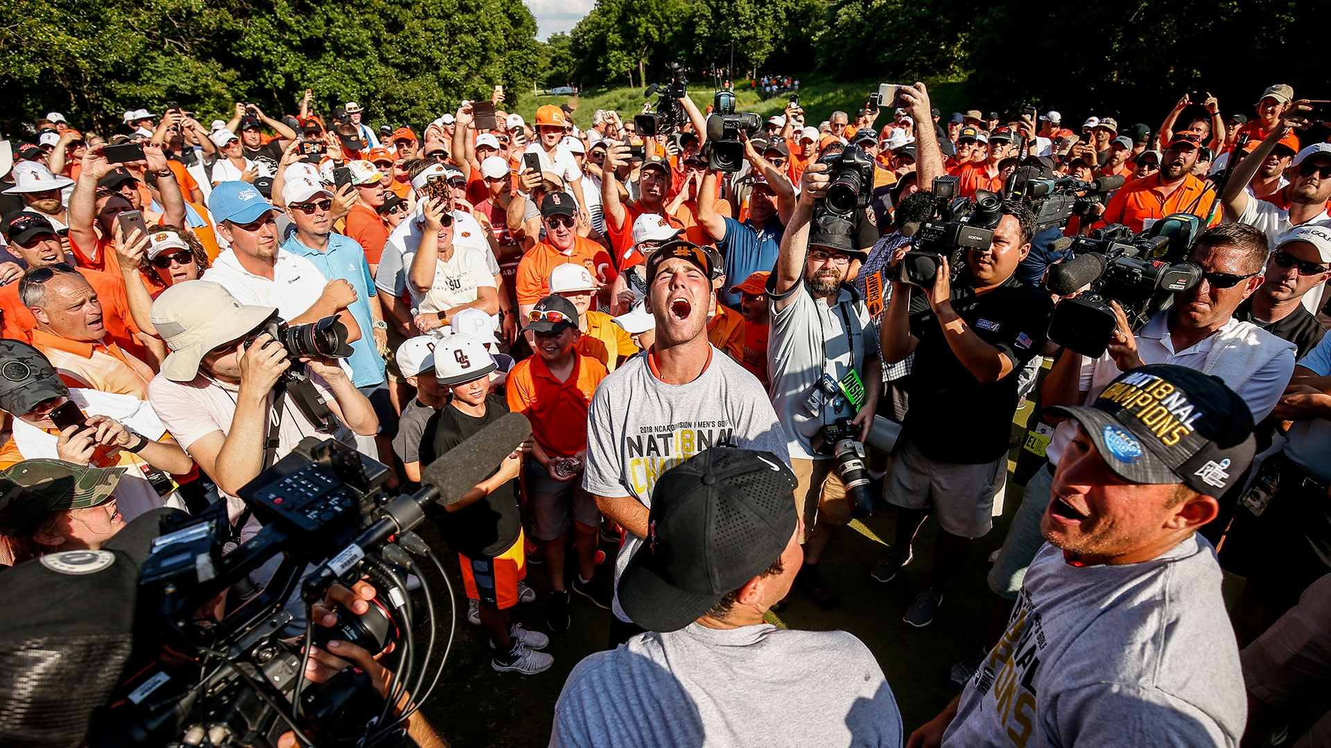 791a7bc9352 Oklahoma State Wins 2018 NCAA Golf Title Against Alabama   Golf Channel