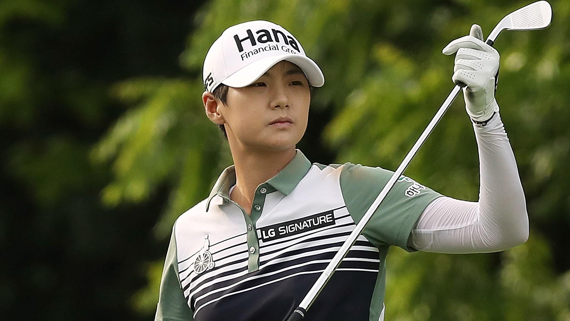 sung hyun park  66  takes kpmg women u0026 39 s pga lead