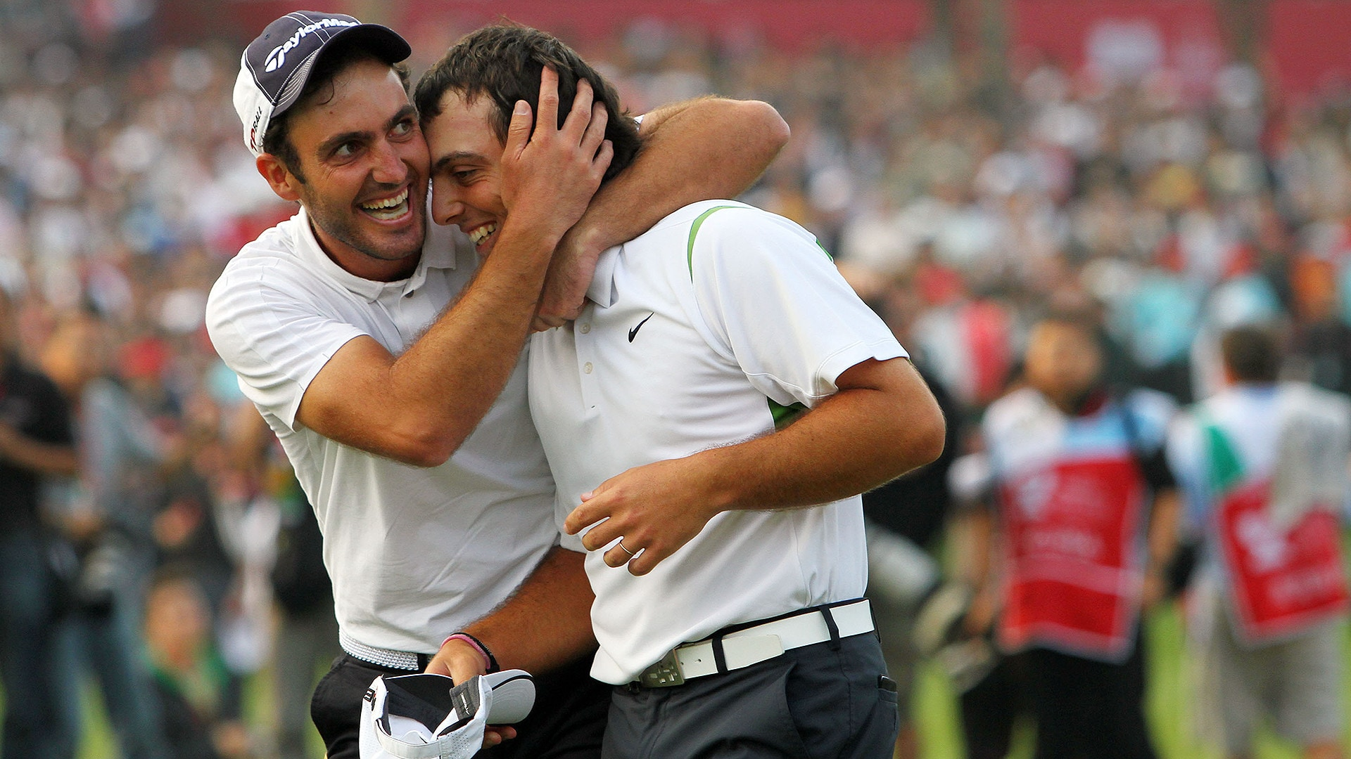 Edoardo and Francesco Molinari after winning the 2009 World Cup. (Getty Images)