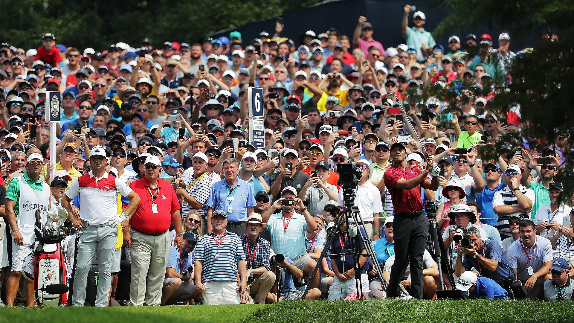 2018 PGA Championship - He did not win, but Tiger Woods was the star of the show