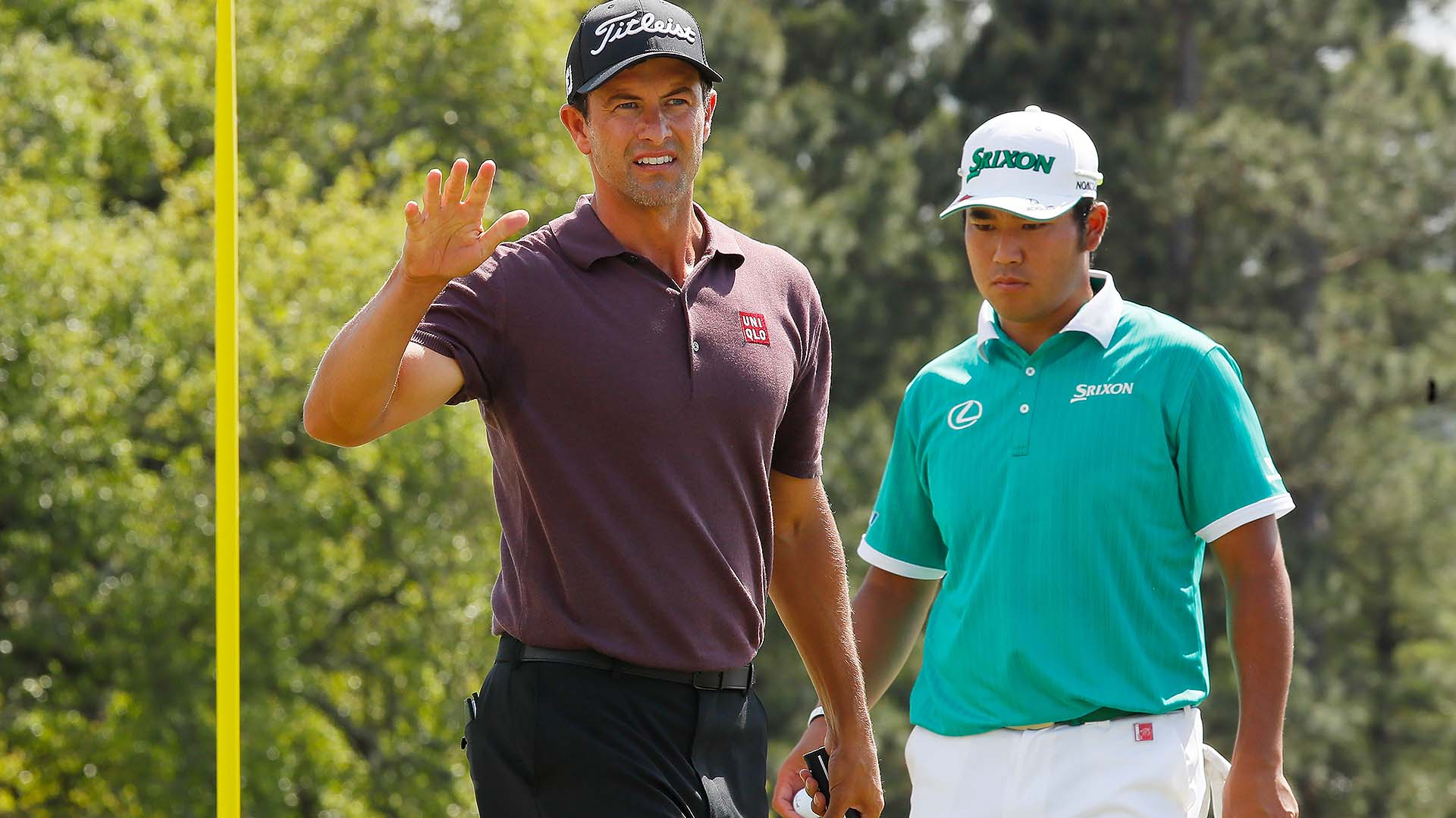 2019 Masters: Bad Look Or Not, Scott (69) Putting With Pin
