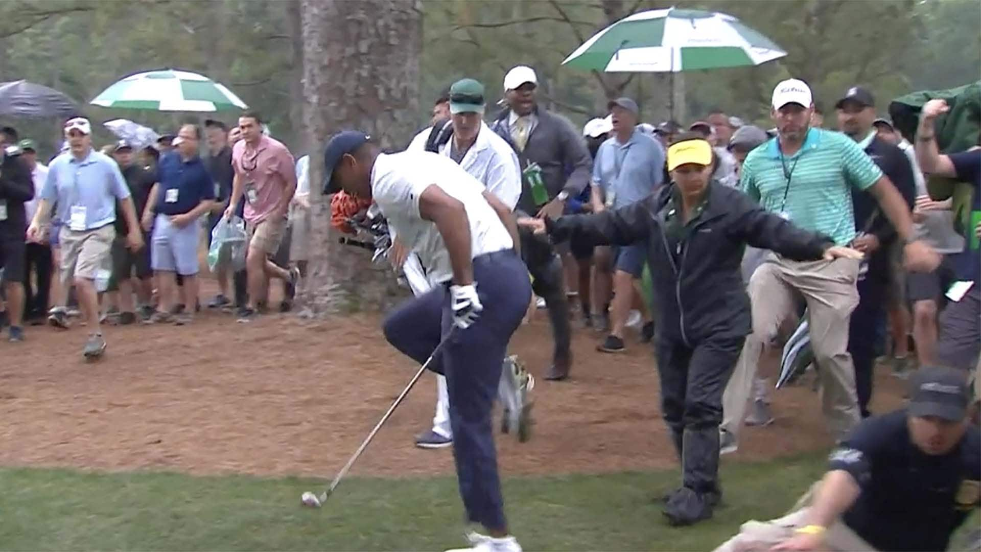 tiger woods one back on a loaded leaderboard at the 2019