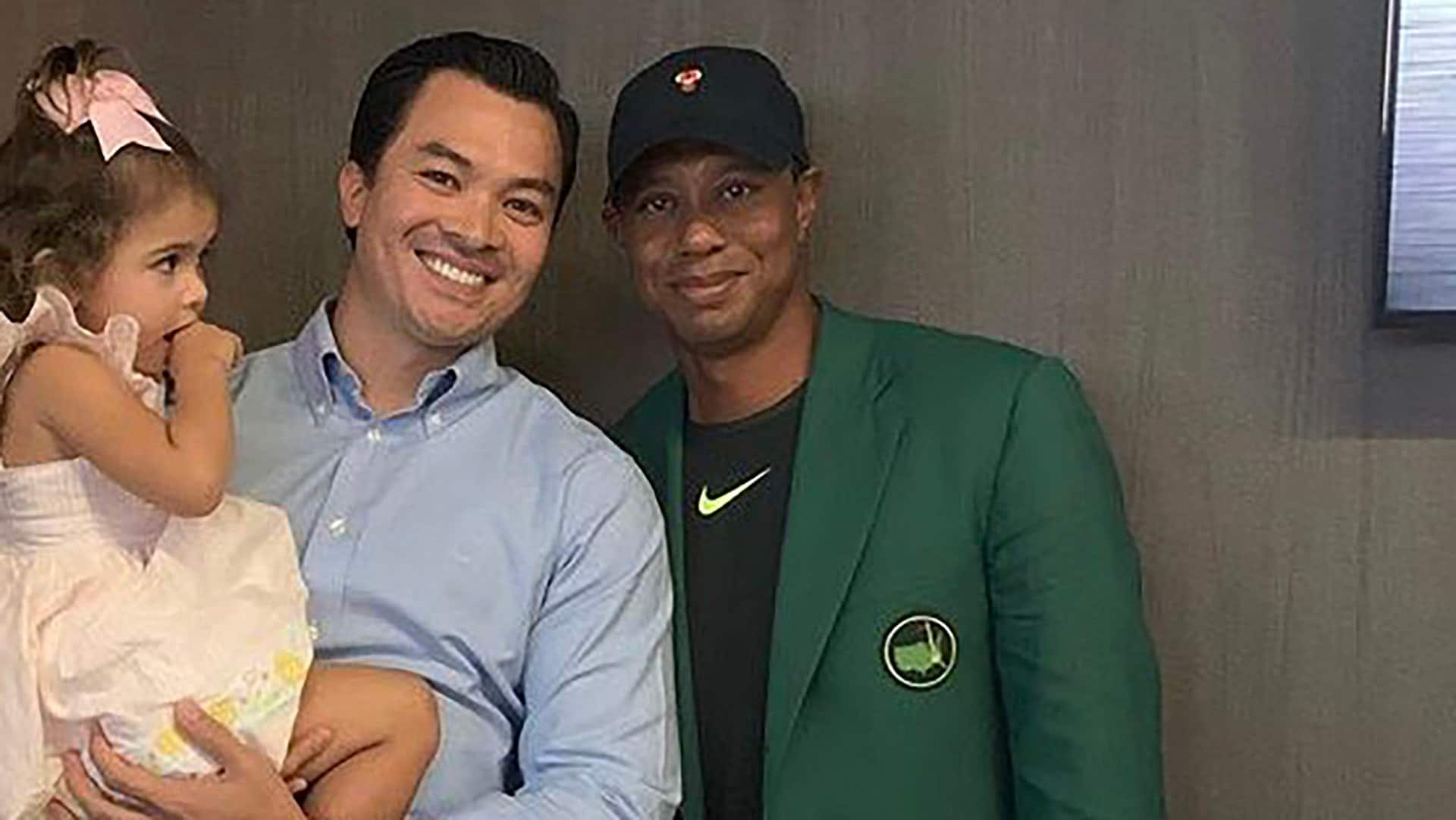 Tiger Woods Wears Green Jacket To Dinner At His Own