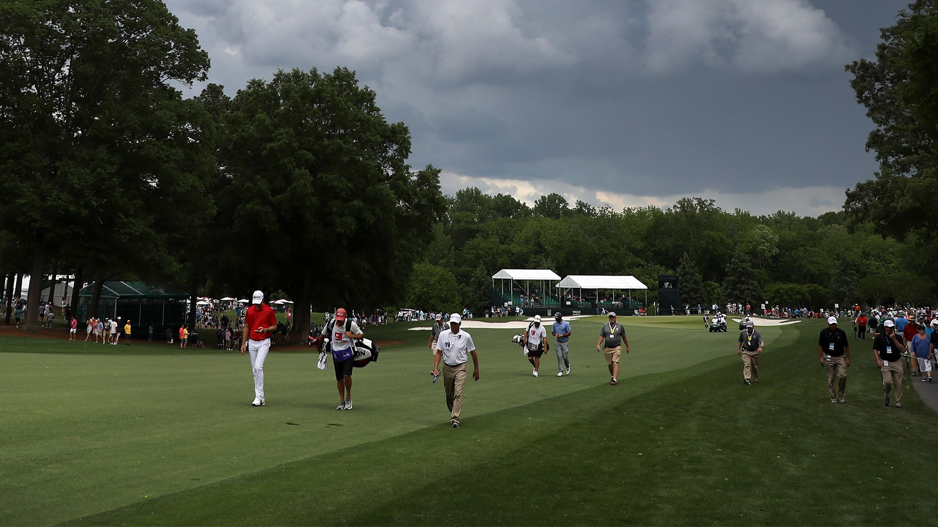 Another weather delay: Wells Fargo final round resumed at 6