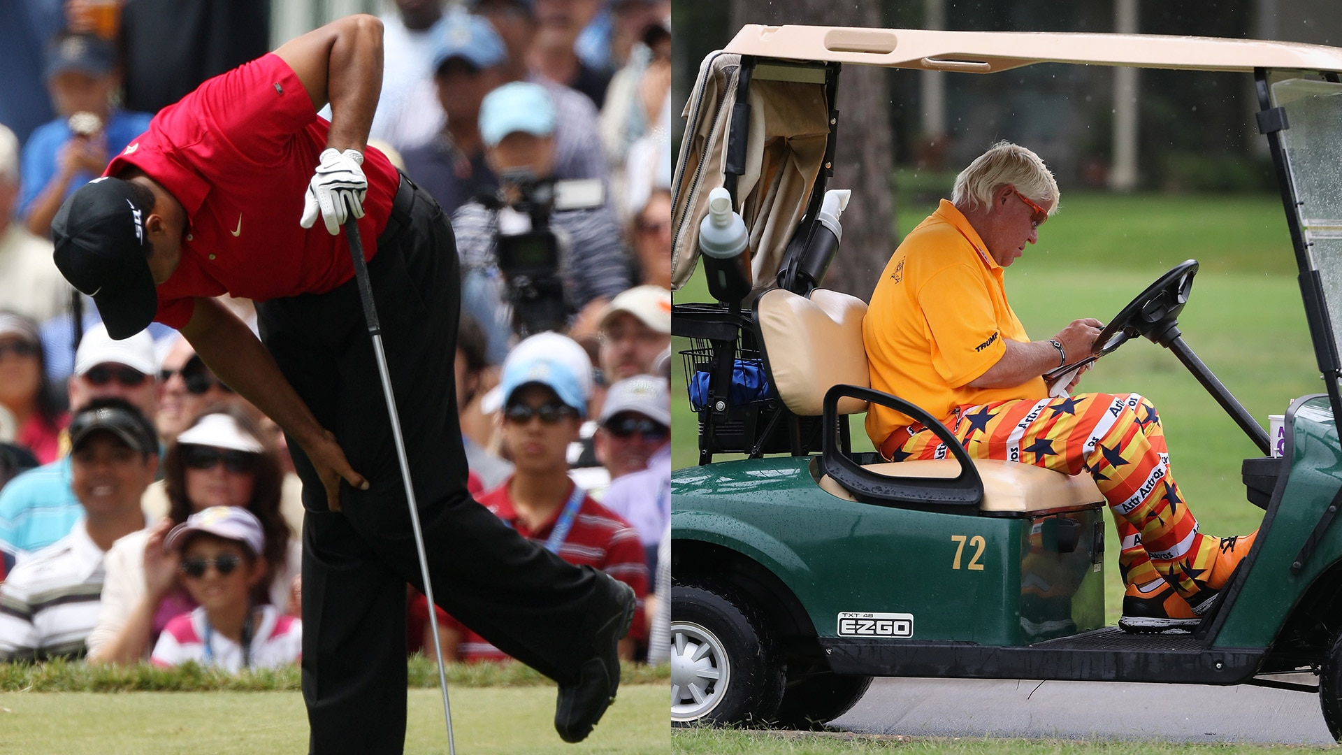 f6a8d885c281c Tiger Woods on John Daly s riding in a cart at the 2019 PGA ...