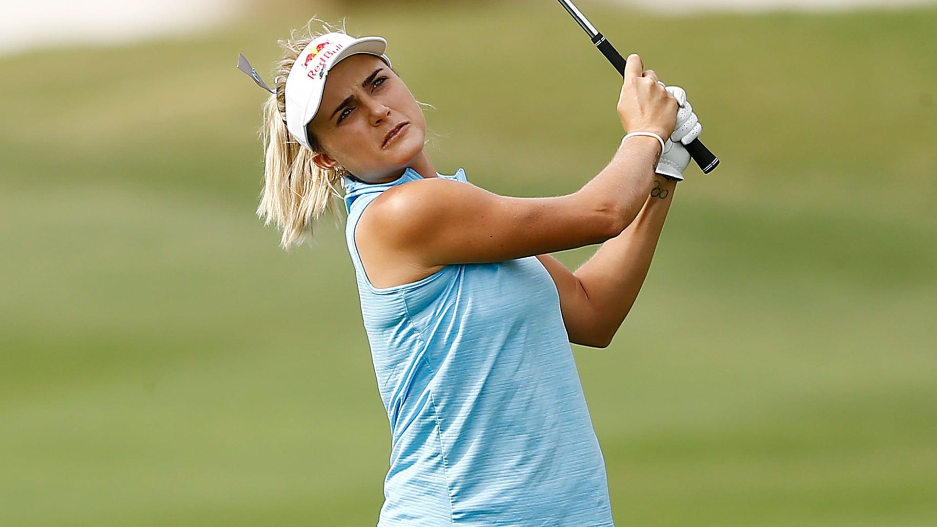 Photo de Lexi Thompson avec un hauteur de 183 cm et à l'age de 26 en 2021