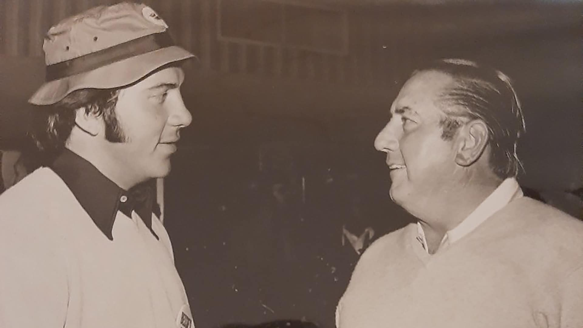 Johnny Bench and Martin Stanovich