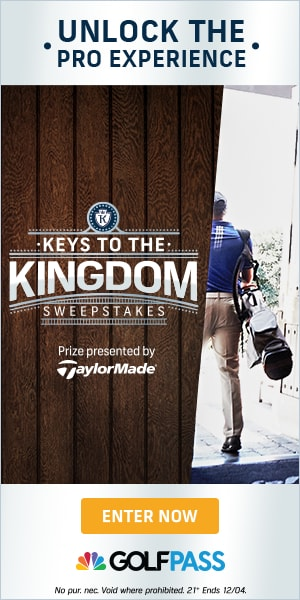 Keys to the Kingdom Sweepstakes by TaylorMade and GolfPass