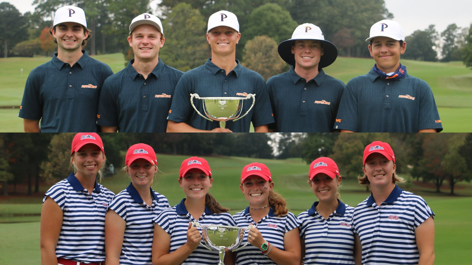Winning men's team Pepperdine and women's Ole Miss