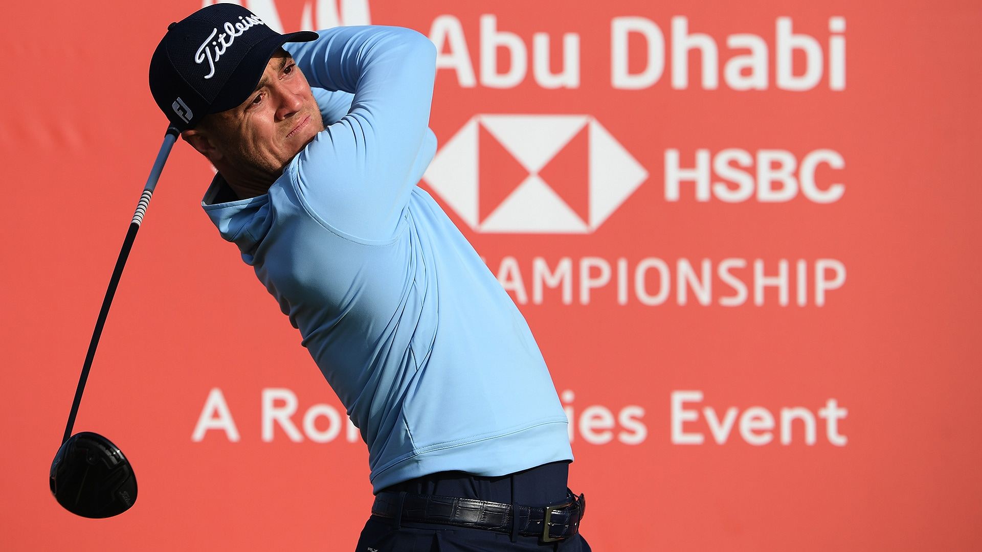 Justin Thomas at the Abu Dhabi HSBC Championship