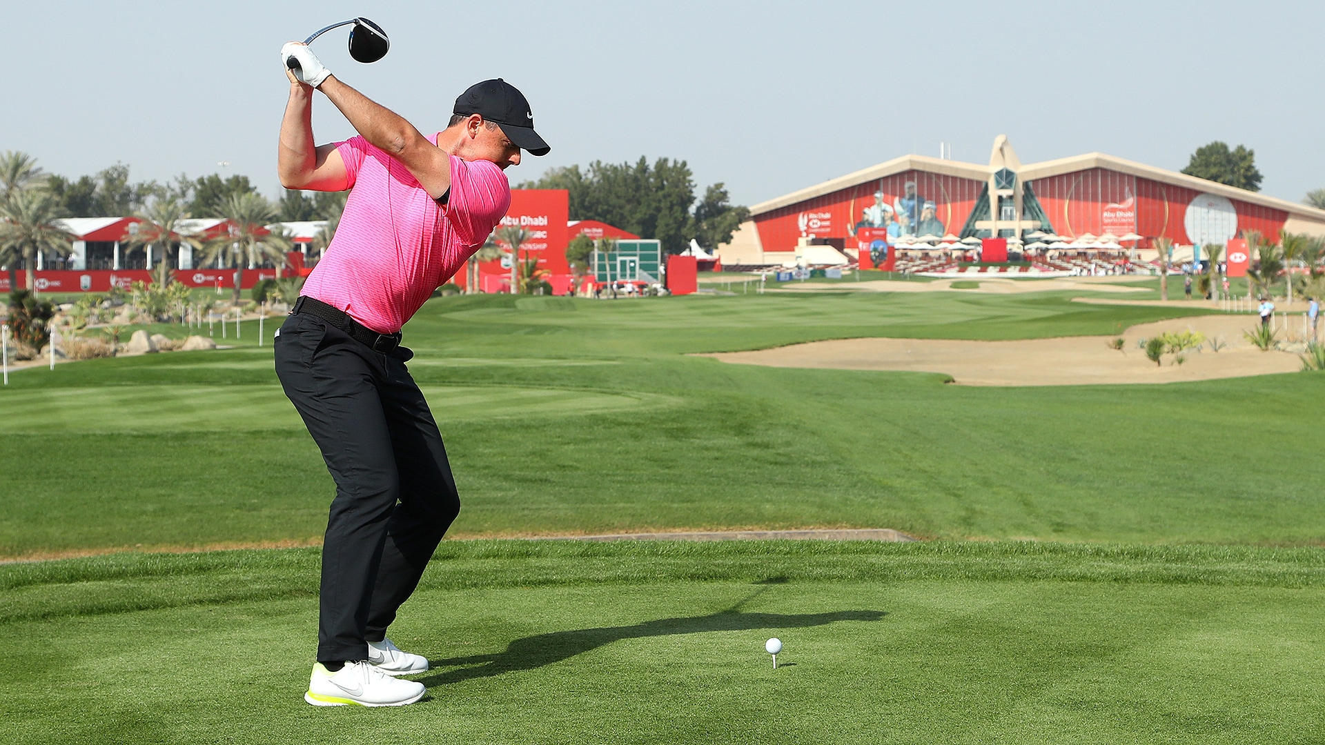 Rory McIlroy at the Abu Dhabi HSBC