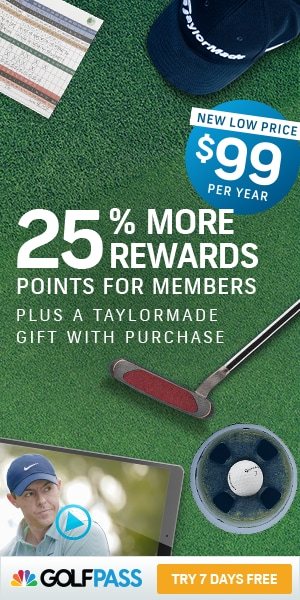 Get 25% more rewards and a TaylorMade gift with purchase when you join GolfPass