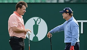 Nick Faldo and Tom Watson