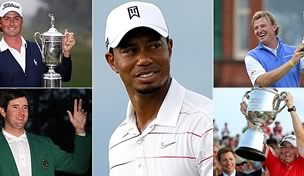 Major champions and Tiger Woods