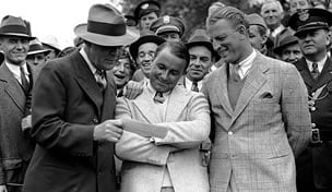 Gene Sarazen wins the 1935 Masters