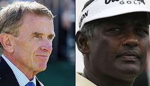 Tim Finchem and Vijay Singh