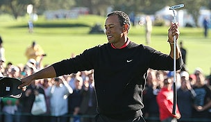 Tiger Woods in the final round of the 2013 Farmers Insurance Open