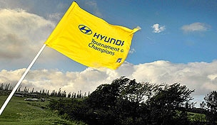 Wind-whipped flag at the 2013 Hyunda Tournament of Champions