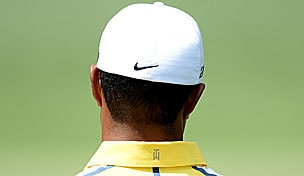 Tiger Woods in the 2013 Masters second round