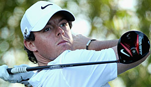 Rory McIlroy in the 2013 Abu Dhabi HSBC Golf Championship second round