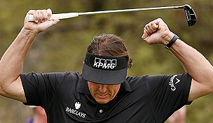 Phil Mickelson in the final round of the 2013 Waste Management Phoenix Open