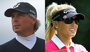 Fred Couples and Natalie Gulbis in 2012