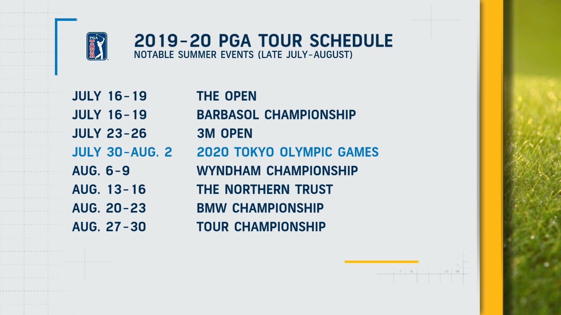 Pga Tour Dates 2020 2020 Tokyo Olympics Impacting PGA Tour Schedule | Golf Channel