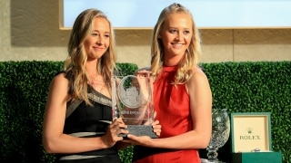 Nelly Korda, Jessica Korda at the 2018 LPGA Rolex Awards