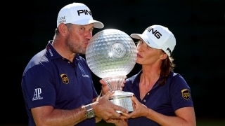Lee Westwood and Helen Storey at the 2018 Nedbank Golf Challenge