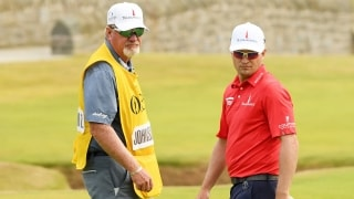 Damon Green and Zach Johnson at the 2018 Open Championship