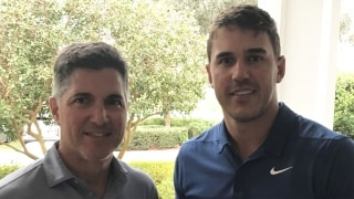 Brooks Koepka with Giles Kibbe