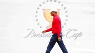 Couples: Tiger's body wouldn't let him go Saturday at Presidents Cup