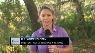 Morning wave gets favorable conditions in opening round at U.S. Women's Open