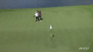 From WAY downtown: Allen drains the eagle-3