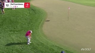 Highlights: Defending champ DeChambeau (70) two back in Dubai